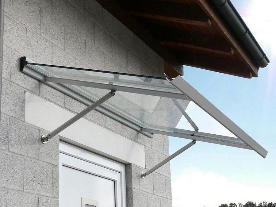 Pensiline e tettoie per esterni in vetro, alluminio e PVC - Rusconi Serramenti - Erba (Como)